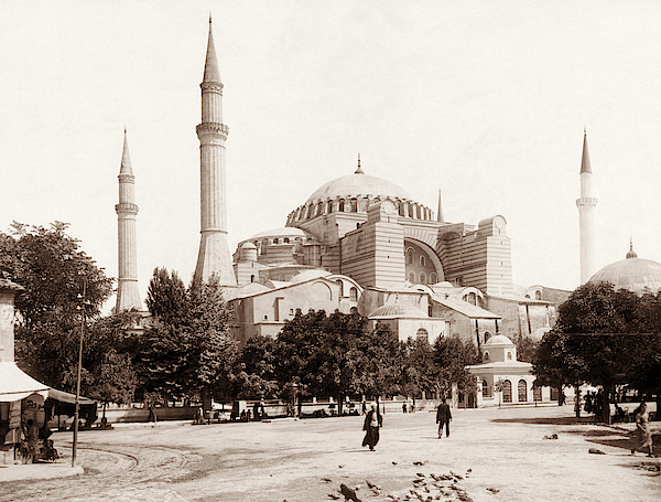 Hagia Sophia Photograph - Circa 1890 by War Is Hell Store